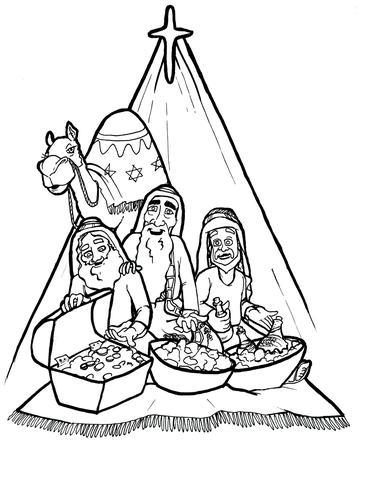 368x479 The 3 Kings Coloring Page Children's Ministry Deals