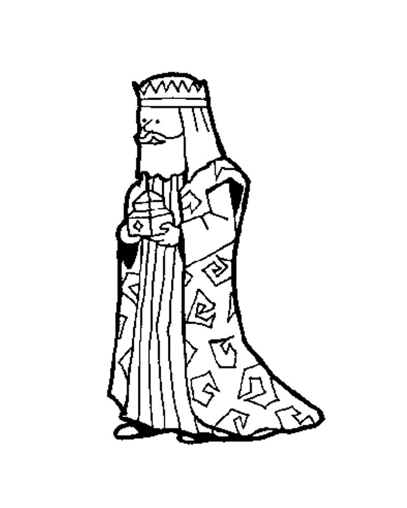 800x1000 The Wise Man Melchior Coloring Pages