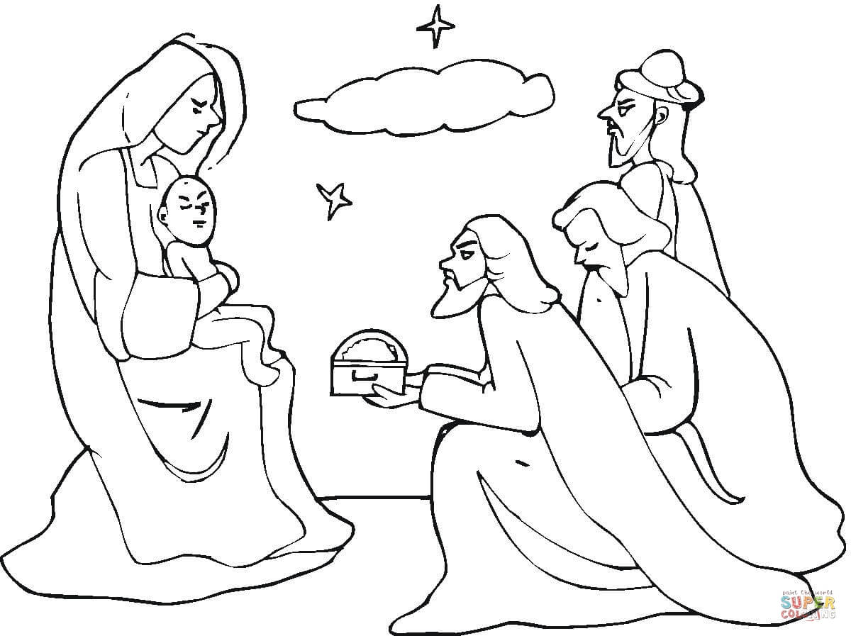 1200x897 Three Wise Men Came To See Jesus Coloring Page Free Printable