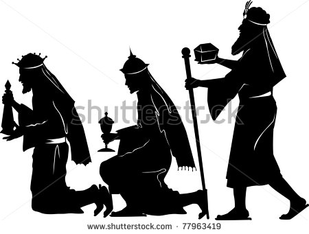 450x341 Vector Silhouette Graphic Illustration Depicting The Three Wise