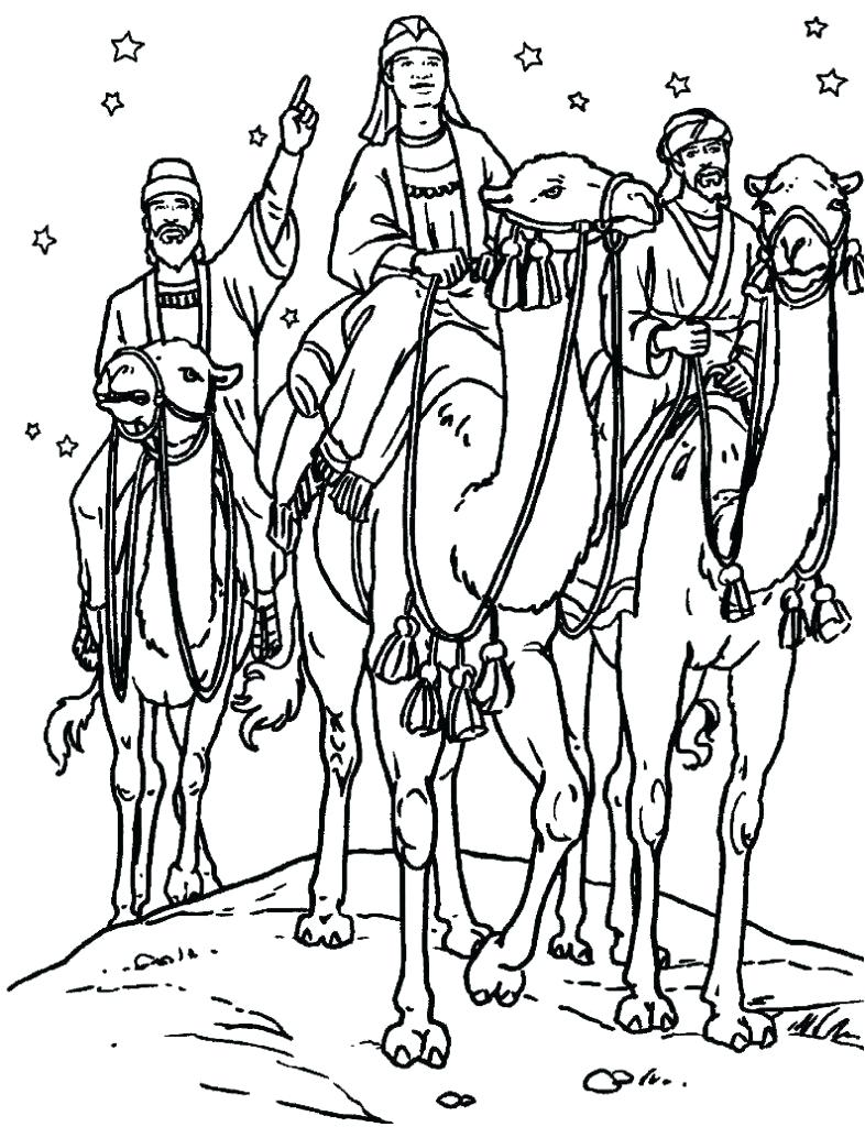 786x1024 Coloring Three Wise Men Coloring Pages Of Kings Lion King Online