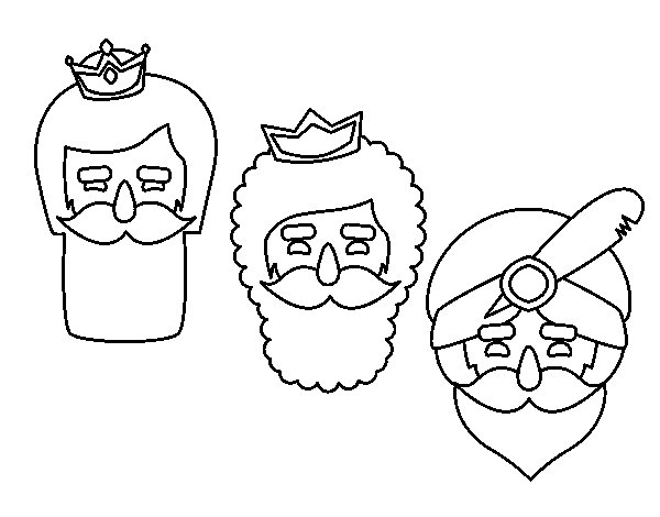 600x470 3 Wise Men Coloring Page