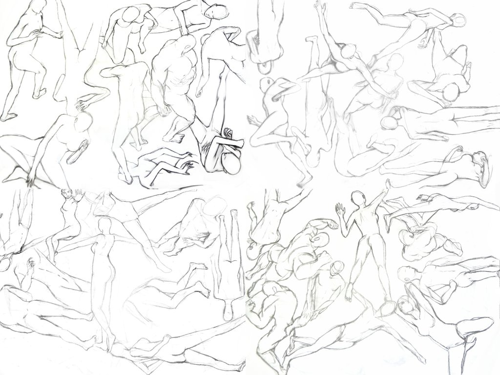 1024x768 30 Second Drawing Poses By Trahit