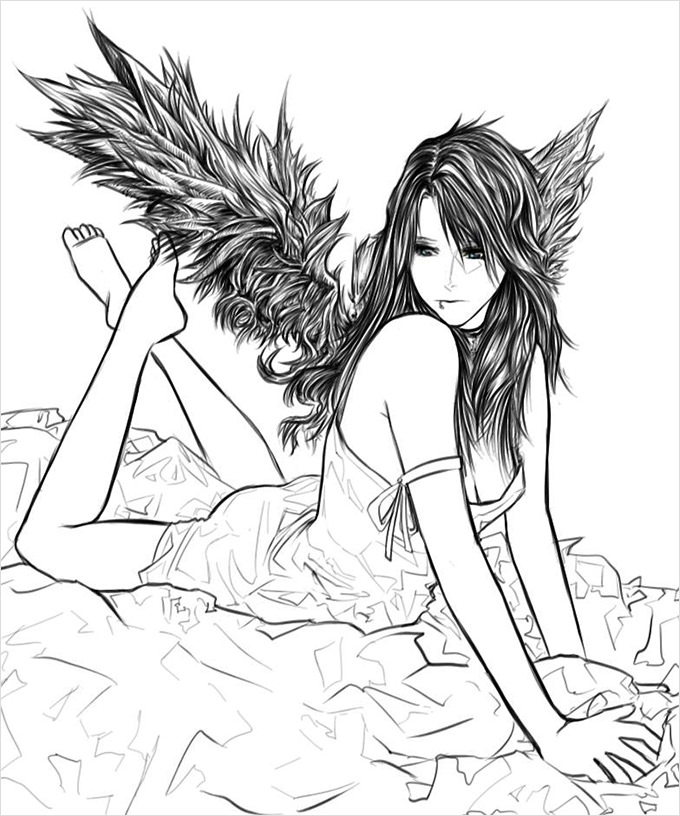 680x816 Angel Drawings