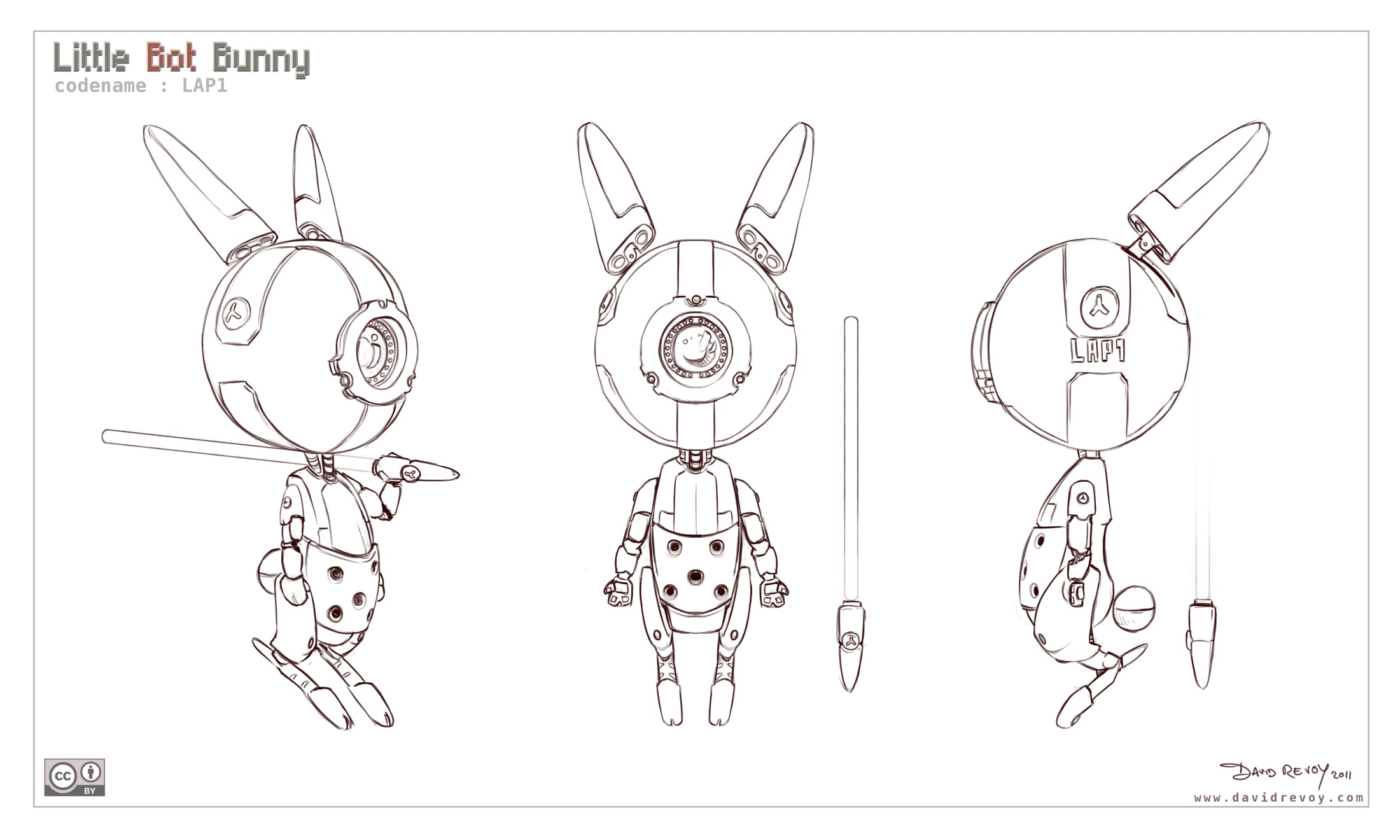 2200x1320 Free 3d Model Sheet Little Bot Bunny