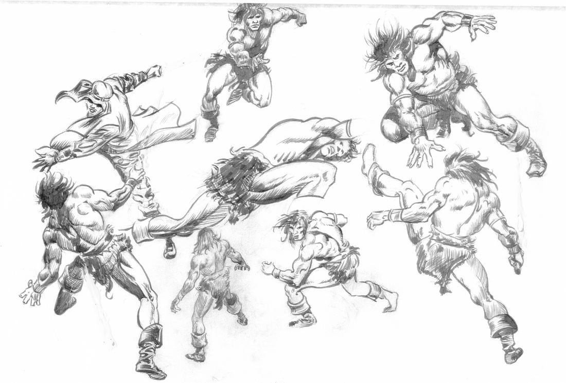 1100x746 Heroic, Anatomy Based Drawings