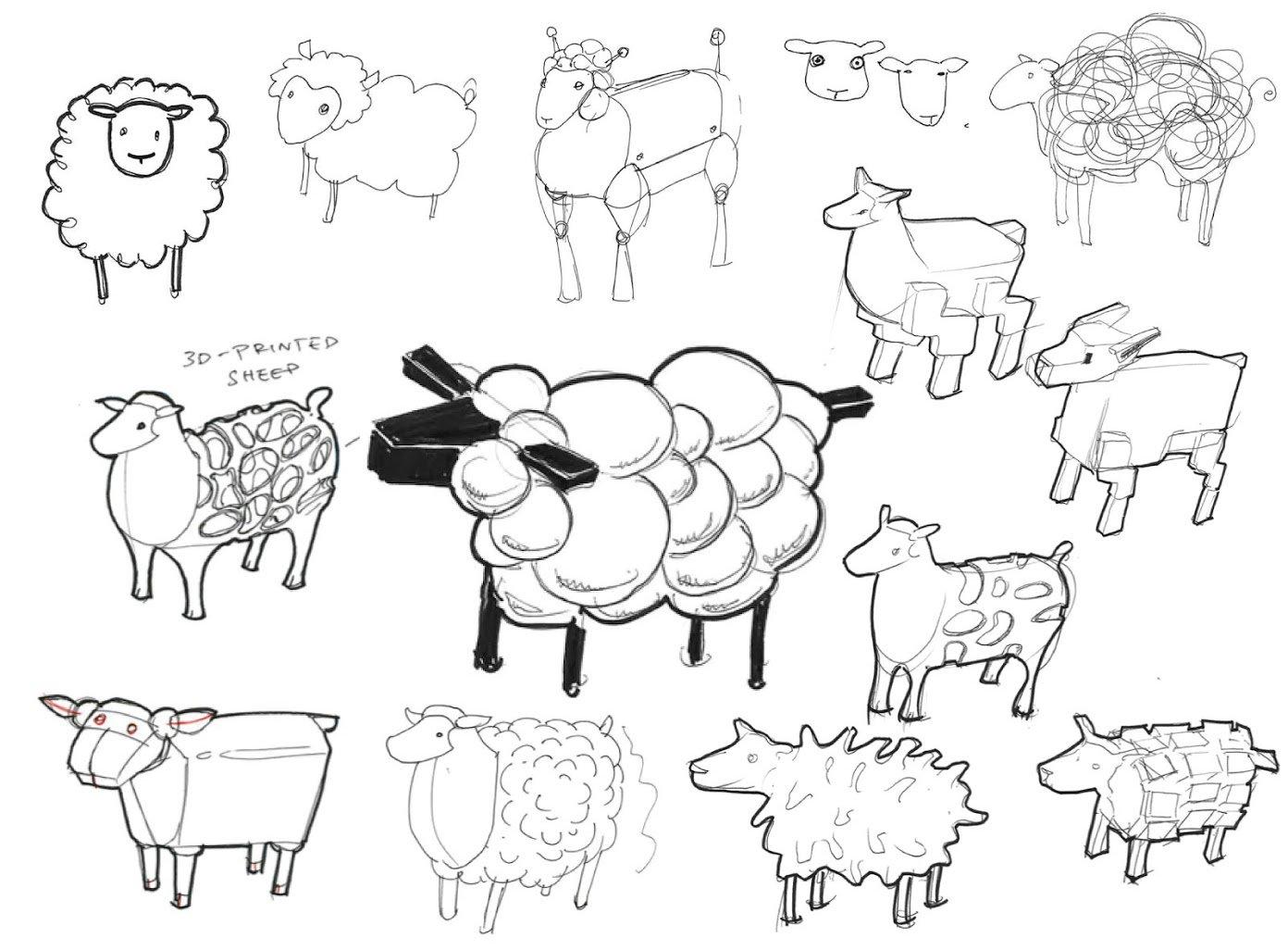 1392x1026 Sheep Shape Designing A Divine 3d Ovine