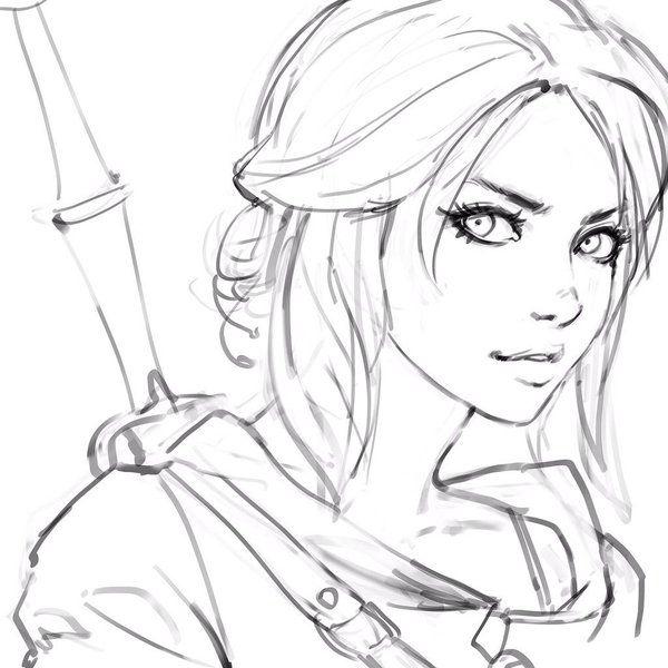 600x600 The Witcher, Ciri Art Inspiration Drawings