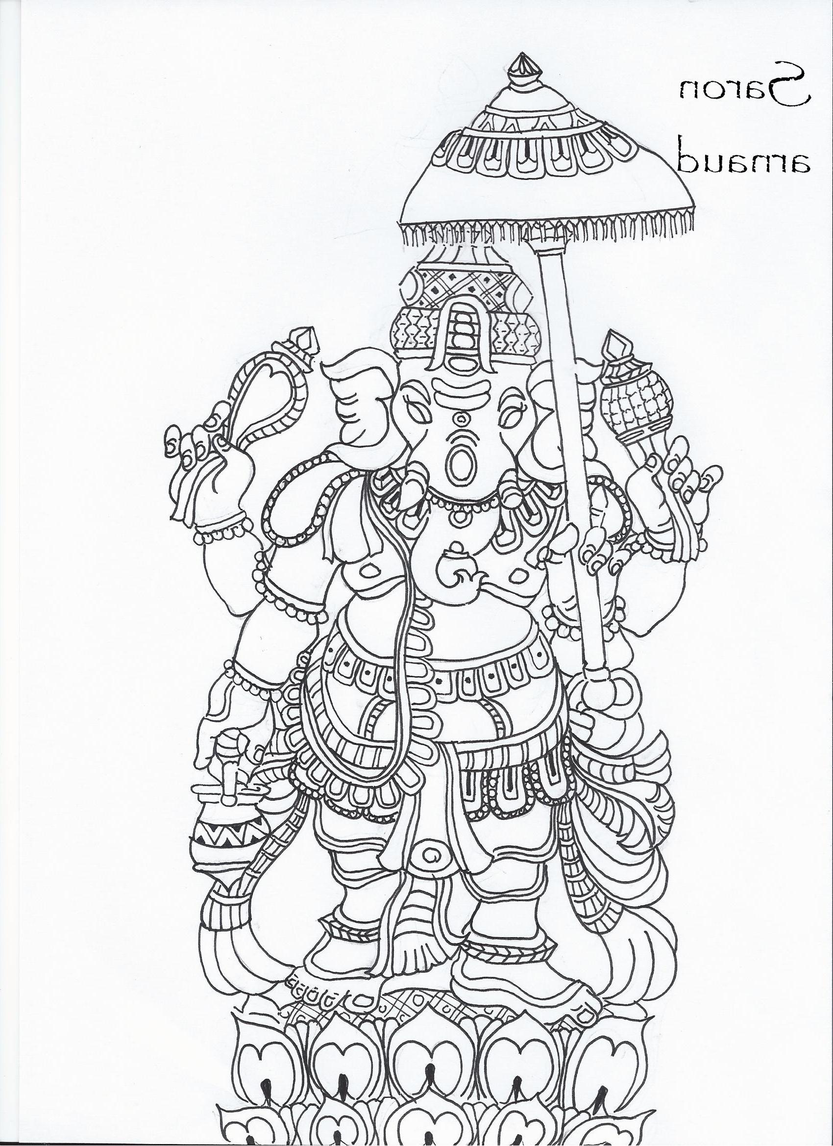 1700x2337 3d Pencil Arts Of Lord Ganesha Drawing Lord Ganesha Fine Art