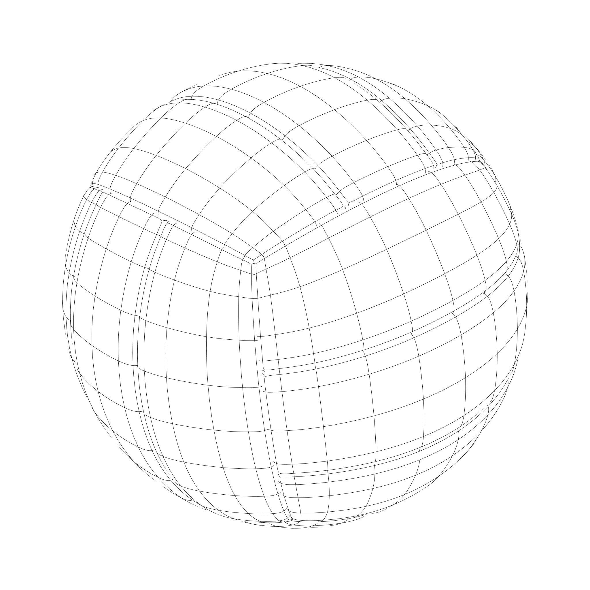 2048x2048 3d Volleyball Sphere Cgtrader