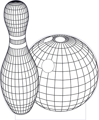 328x397 3d Illusion Bowling Premium Vector Drawing 3d Geometric Designs