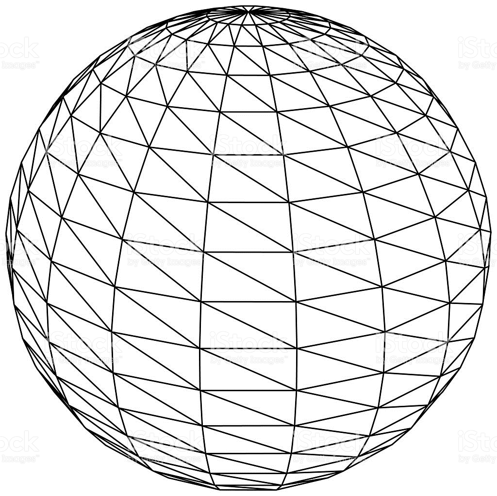 sphere grid free icon. enter image description here. globe vector ...