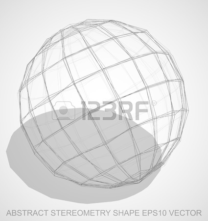 425x450 Abstract Geometry Shape Pencil Sketched Sphere With Transparent