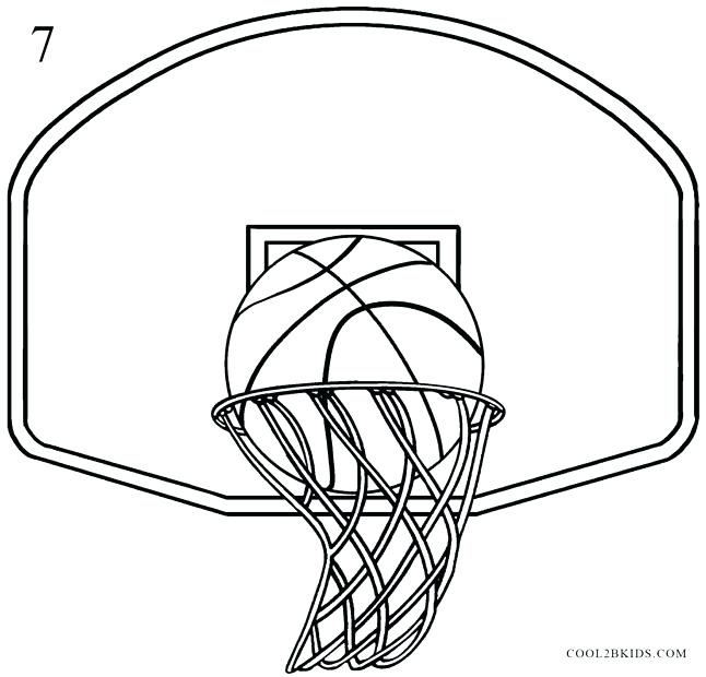 646x620 Basketbll Hoop 3d Basketball Hoop Drawing Smartphoneworld