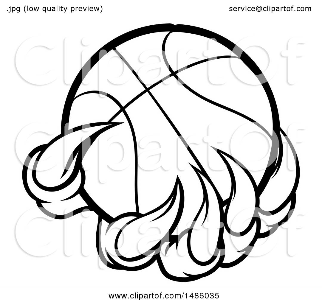 1080x1024 Clipart Of Blacknd White Monster Or Eagle Claws Holding