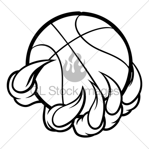 500x500 Monster Or Animal Claw Holding Basketball Ball Gl Stock Images