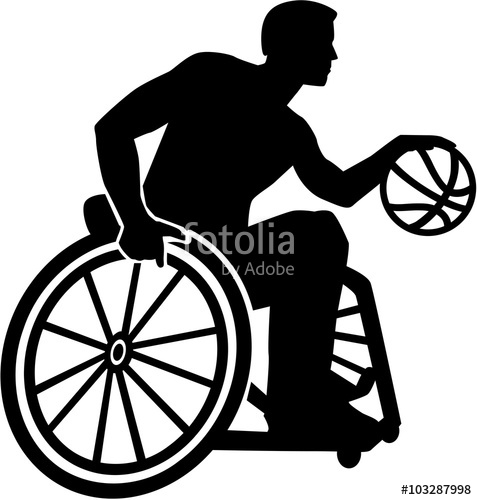 477x500 Wheelchair Basketball Silhouette Stock Image And Royalty Free