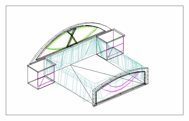 800x510 Features Double Bed Cad 3d Drawings, Autocad Drawing, Autocad Dwg