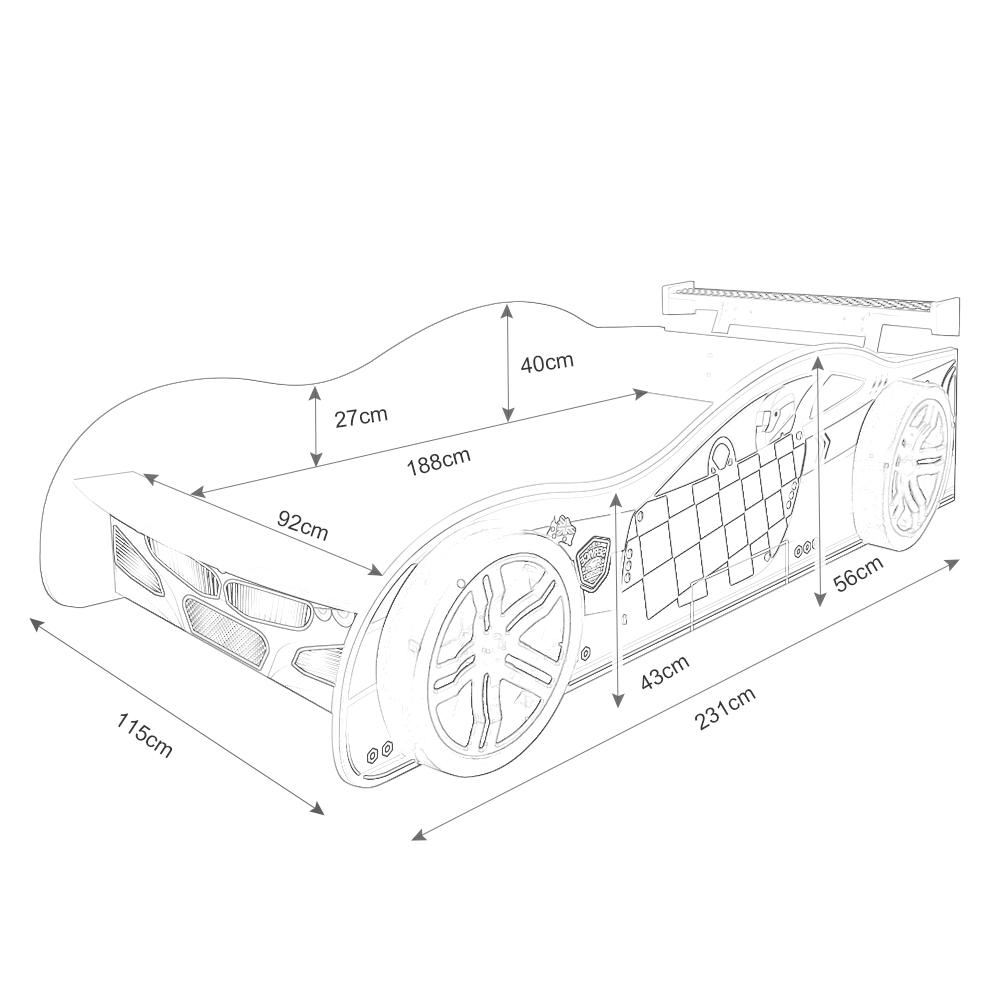 1000x1000 Kids Car Bed