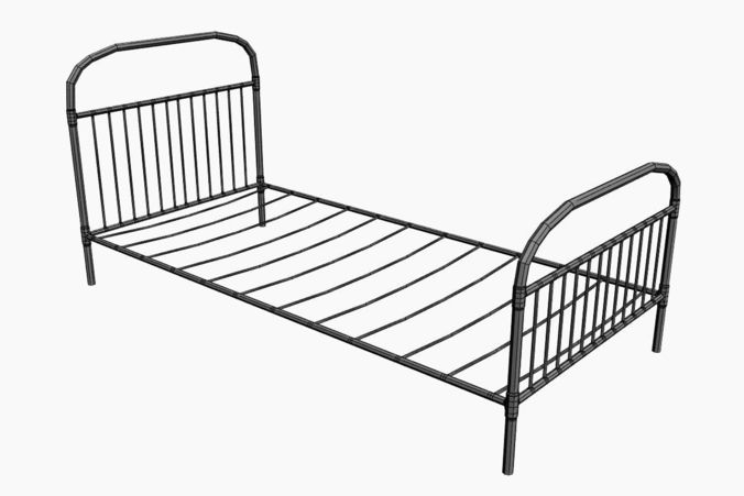 676x451 Old Bed With Mold 3d Model Cgtrader