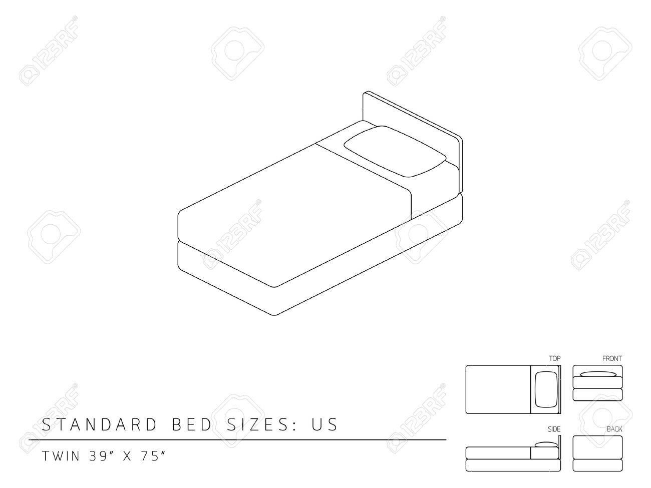 1300x975 Standard Bed Sizes Of Us (United States Of America) Twin Size