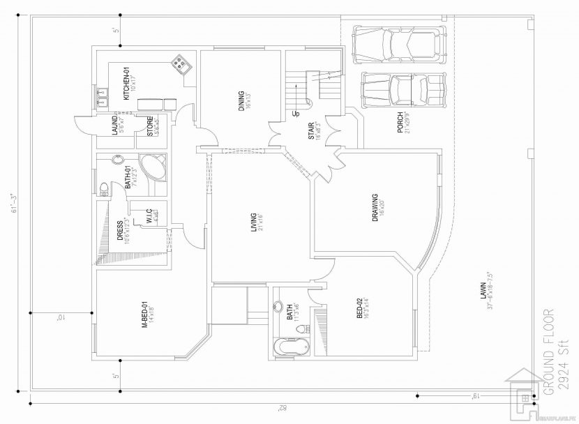 830x608 5 Bedroom House Plan Gharplans Pk Plans Nz 885 Ground F Traintoball
