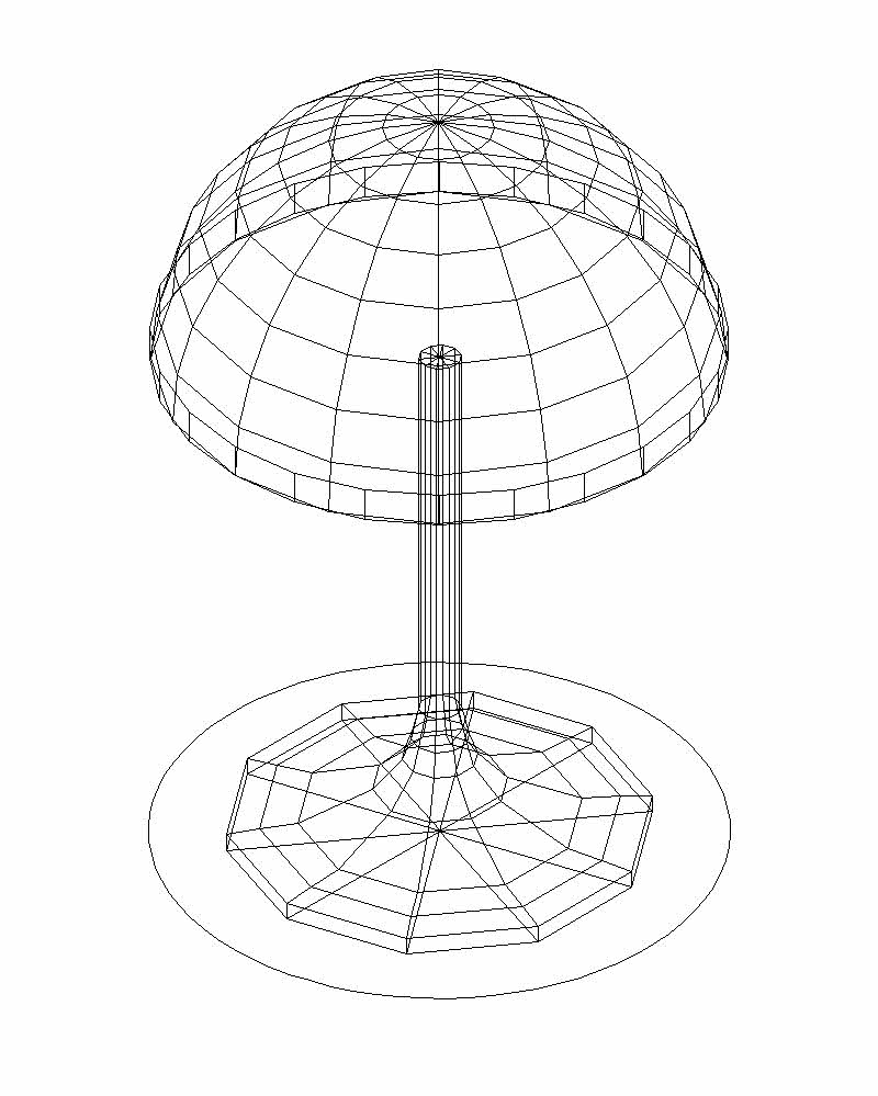 800x999 Elegant Table Lamp Drawing