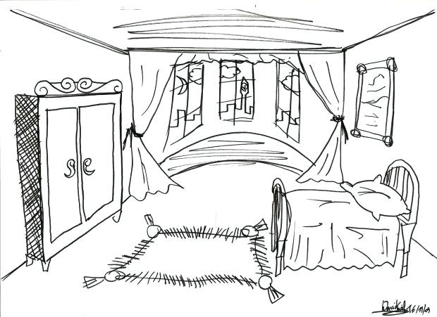 620x451 Kids Bedroom Drawing Free Drawing Of A Girls Room