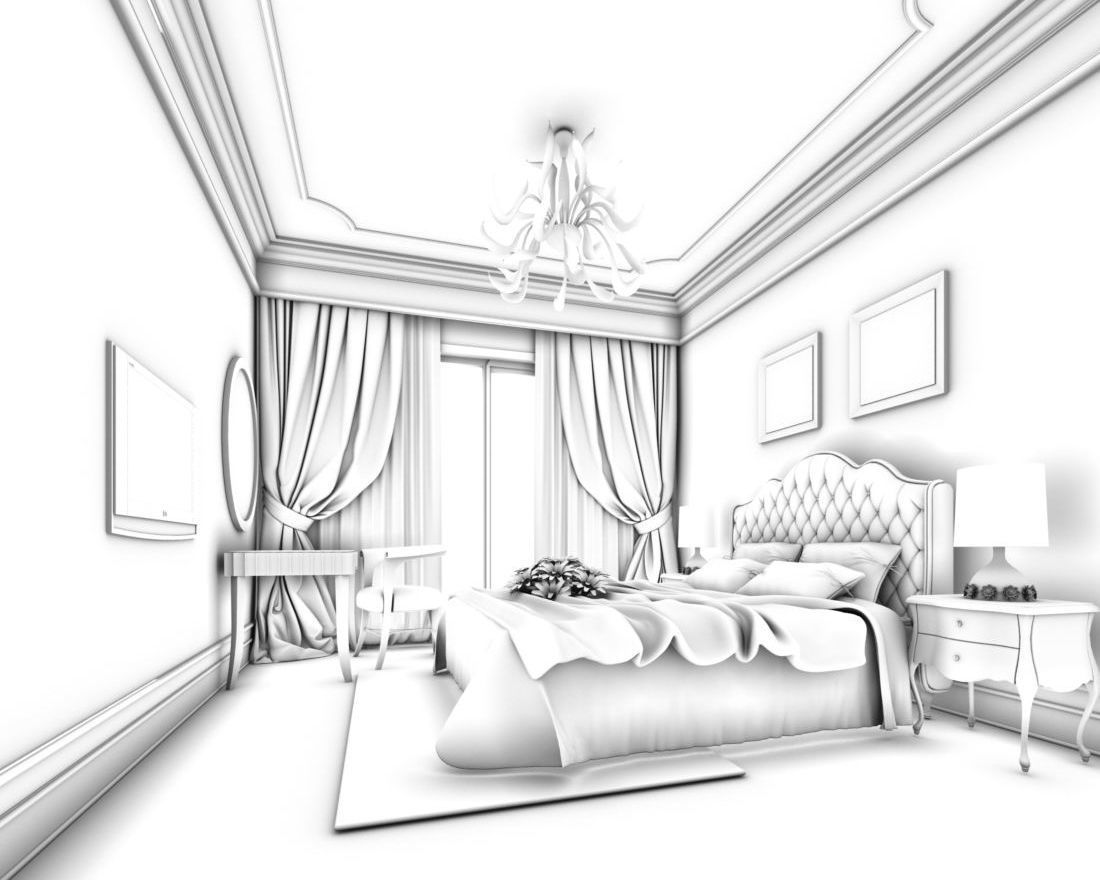 1100x880 Luxury Stylish Interior Master Bedroom