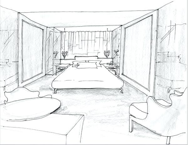 600x463 Bedroom Drawing Tehno