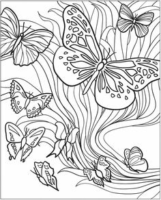 236x292 3 D Coloring Book Butterflies Coloring Pages