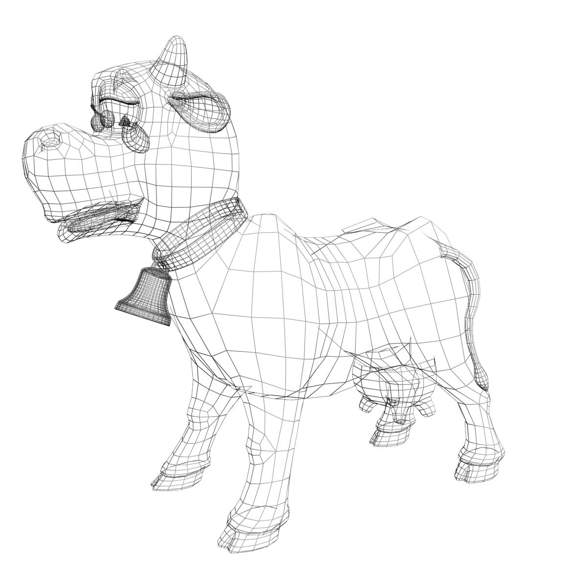 1200x1200 Cartoon Cow Rigged 3d Model Mammals Character 3ds Max Fbx Obj Ar Vr