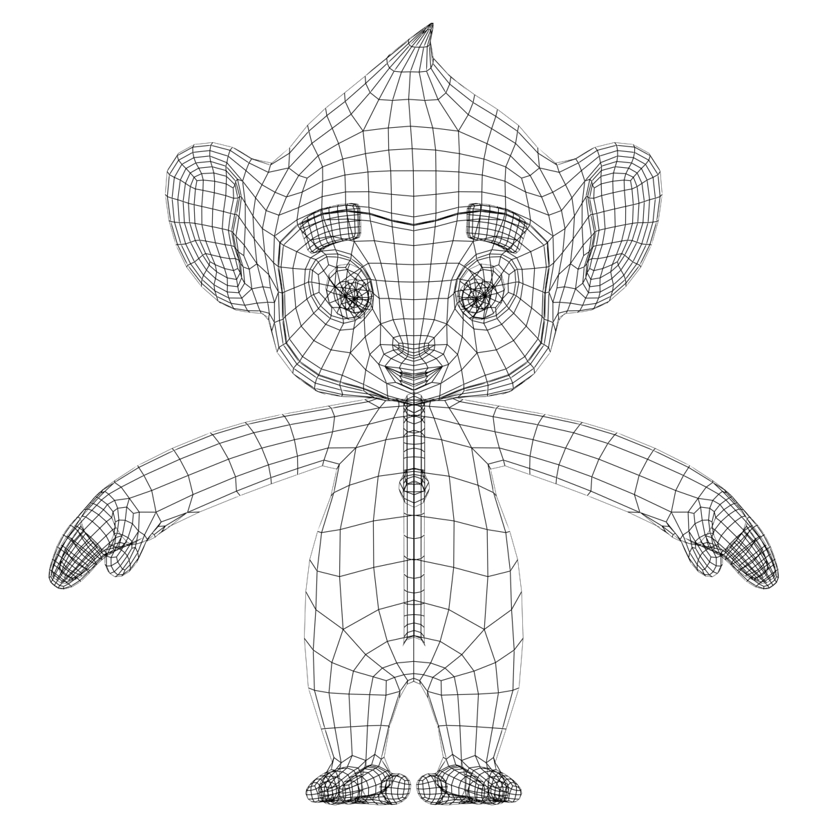 1200x1200 Colorful Cartoon Monkey Rigged 3d Model Characters 3d Models