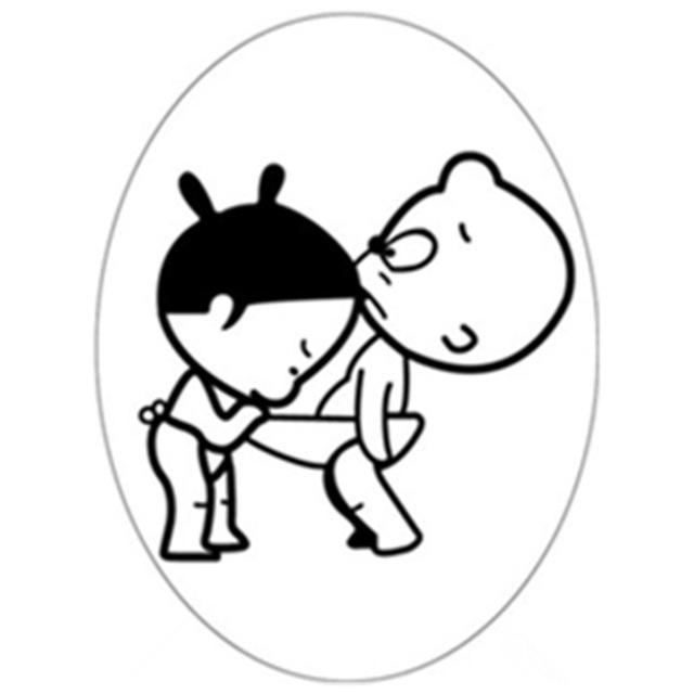 640x640 Funny Cartoon Toilet Stickers Curious Boy Girl 3d Vinyl Decals