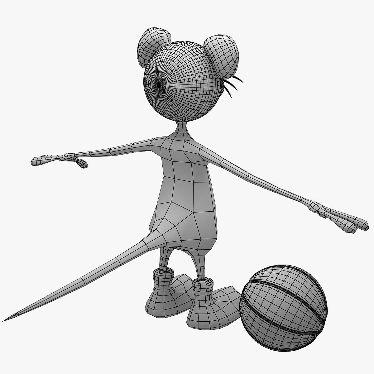 1200x1200 3d Model Cartoon Mouse Set Not Rigged Cgtrader