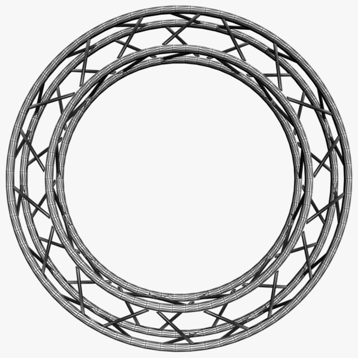 1200x1200 Circle Square Truss (Full Diameter 200cm) 3d Model Scenes Truss