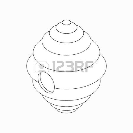 450x450 Hanging Beehive Icon In Isometric 3d Style Isolated On White