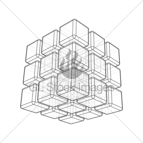 500x500 Cube 3d Gl Stock Images