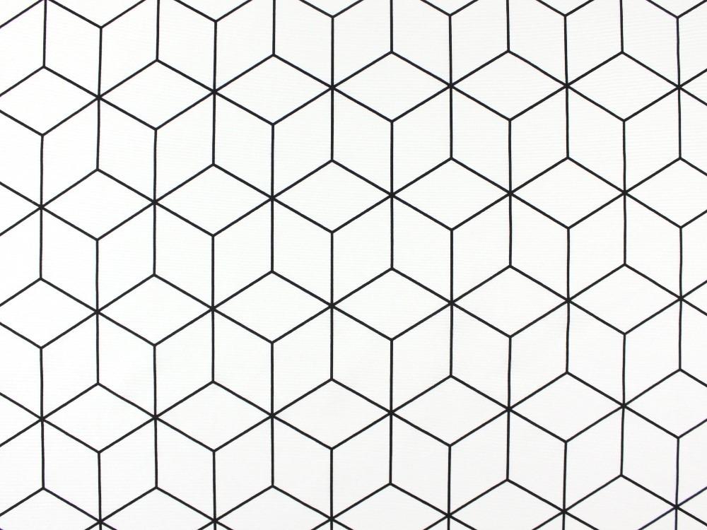1000x750 Deco Fabric 3d Cube, Off White Fabrics