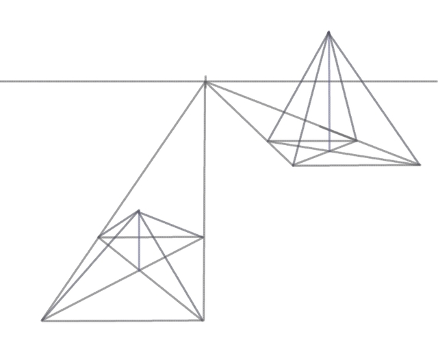 640x504 Draw A 3d Pyramid In Perspective Perspective, 3d And Drawings