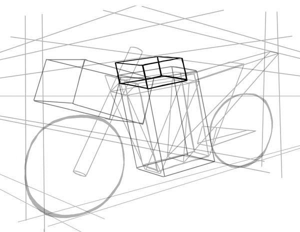 600x464 How To Draw Vehicles Motorcycles