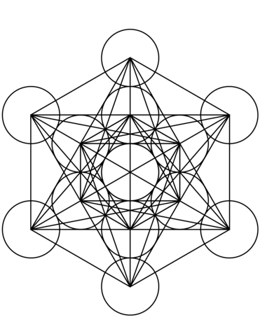 371x480 Metatron's Cube Mandala Coloring Page Free Printable Coloring Pages