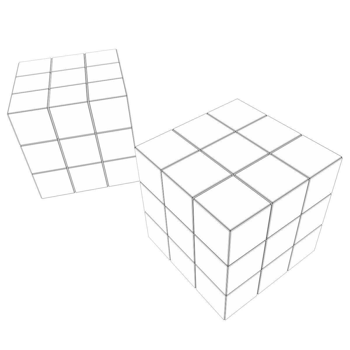 1200x1200 Rubik Cubes 3d Pbr Cgtrader