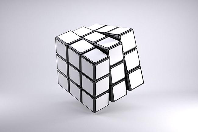 650x433 Rubiks Cube 3d Online Mockup Template
