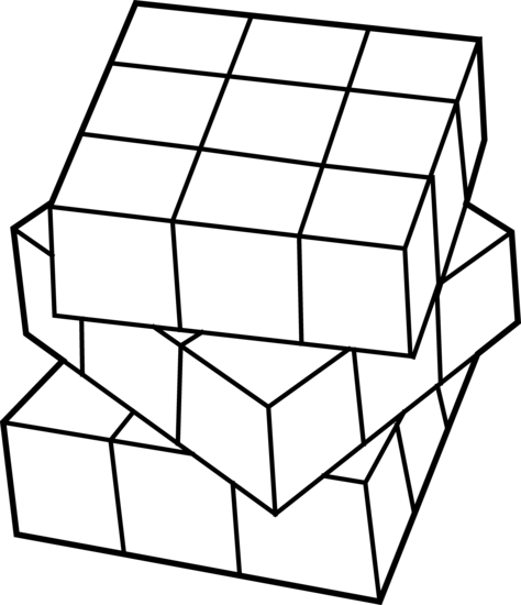 474x550 How To Draw A 3d Rubik's Cube