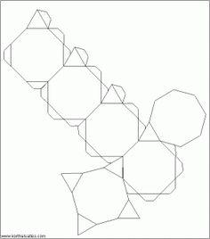 236x268 Net Snub Cube (Left Handed) Homework Cube, Origami
