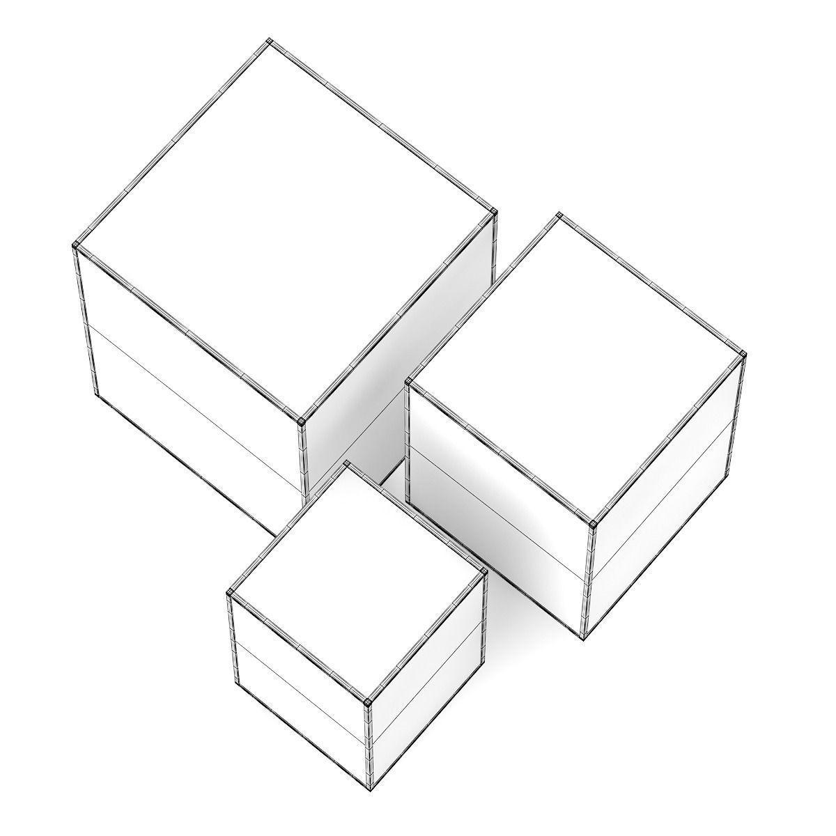 1200x1200 3d Decorative Glass Cubes Cgtrader