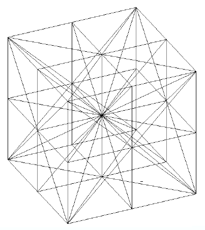 403x453 3d Meshing With Tetrahedrons. 6 Tetrahedrons Create A Cube, 8 Cubes