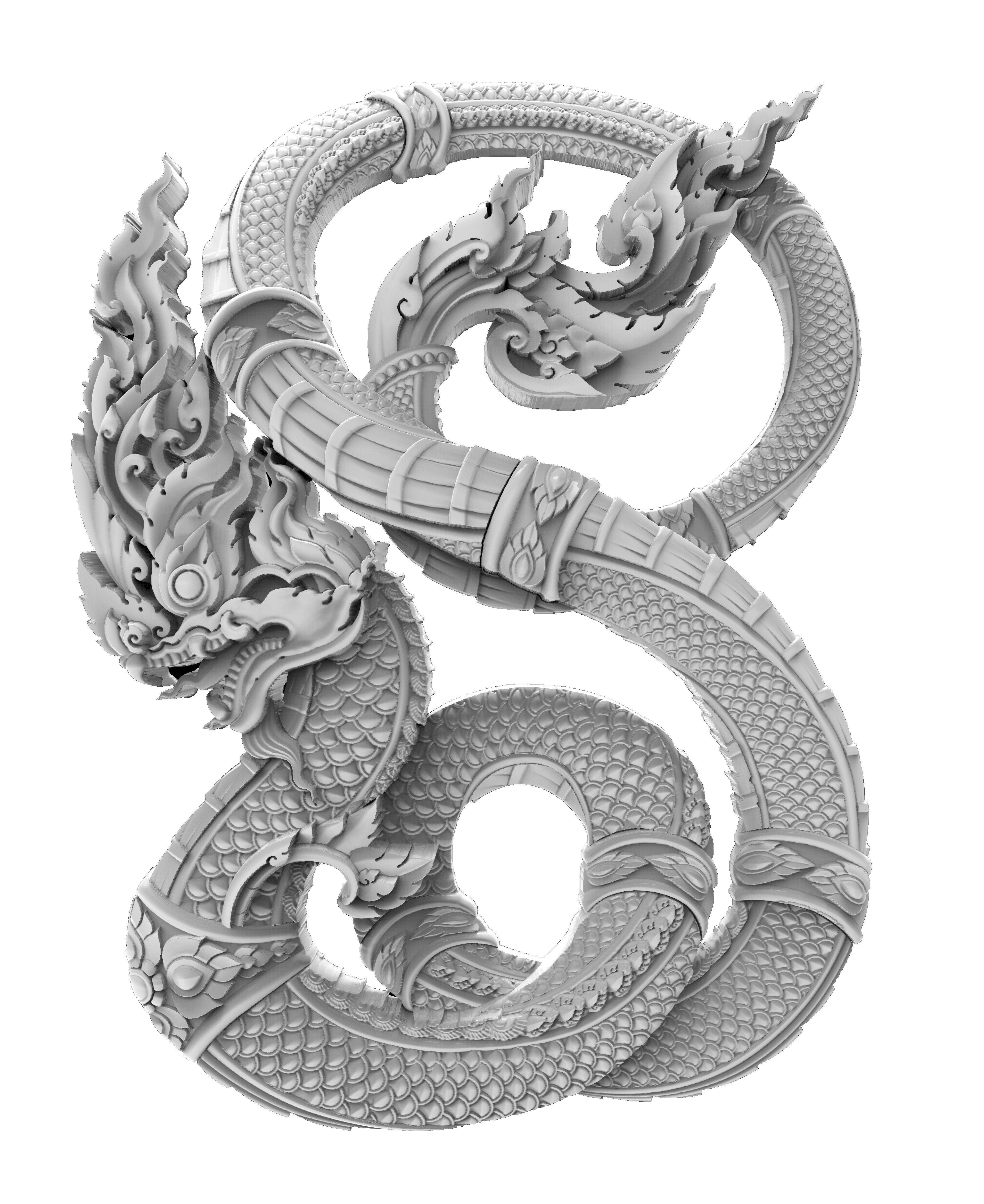 3d Dragon Drawing At GetDrawings