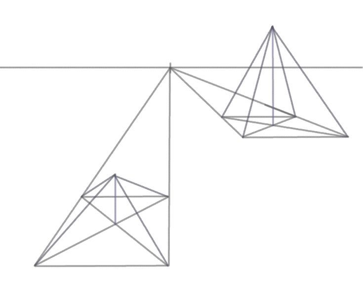 735x578 Draw a 3D Pyramid in Perspective Perspective, 3d and Perspective
